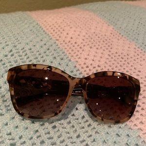 Coach peach tortoise/dark brown sunglasses